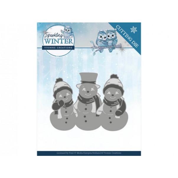 Rezalna šablona, Sparkling Winter, Sparkling Snowmen