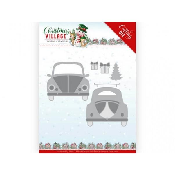 Rezalna šablona, Christmas Village, Christmas Car