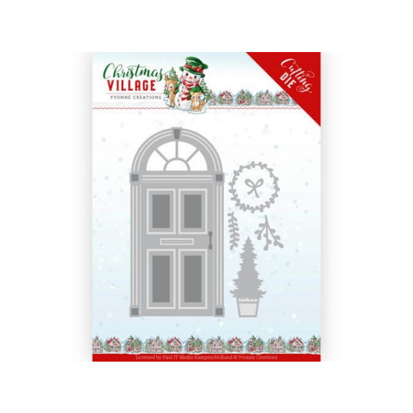 Rezalna šablona, Christmas Village, Christmas Door