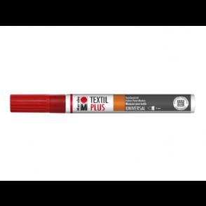 Marker, za tekstil, češnjevo rdeč