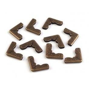 Kovinski zaščitni vogalniki, starinsko zlati