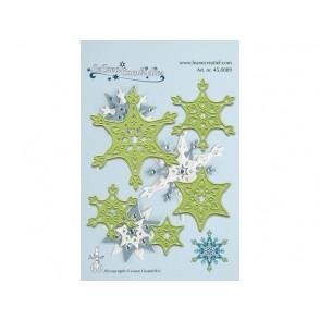 Rezalna šablona, Snow crystal