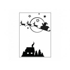 Mapa za embosiranje, Santa flying sleigh