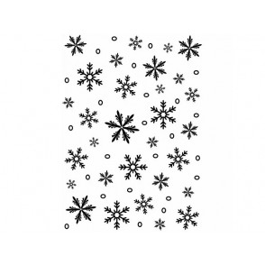 Mapa za embosiranje, Snowflake background