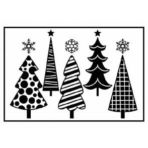 Mapa za embosiranje, Christmas trees