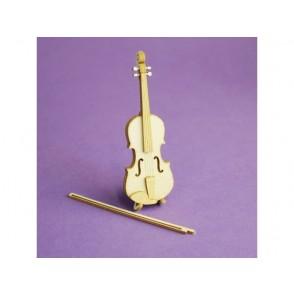 Izrezki, 3D, violina