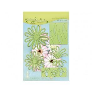 Rezalna šablona, Multi flower 009