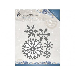 Rezalna šablona, Vintage Winter, Beautiful Snowflakes