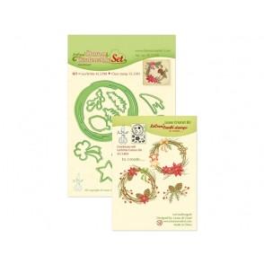 Rezalna šablona in štampiljka, Christmas wreath