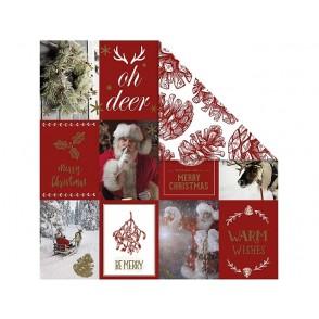 Dizajnerski papir, božični motivi in storžki