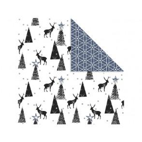Dizajnerski papir, jeleni in zvezdno ozadje