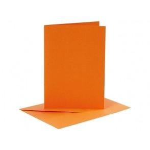 Set osnov in kuvert, C6, orange