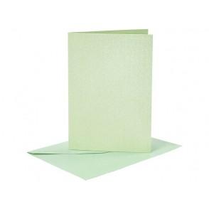 Set osnov in kuvert, C6, pearl green