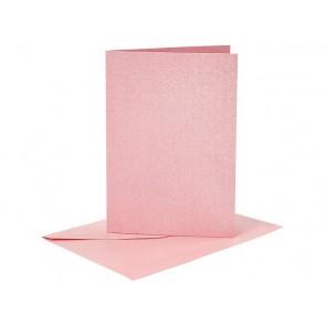 Set osnov in kuvert, C6, pearl rose