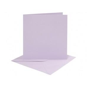 Set osnov in kuvert, light lilac, 6 x 6