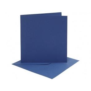 Set osnov in kuvert, blue, 6 x 6
