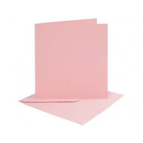 Set osnov in kuvert, rose, 6 x 6