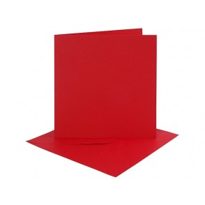 Set osnov in kuvert, red, 6 x 6