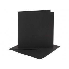 Set osnov in kuvert, black, 6 x 6