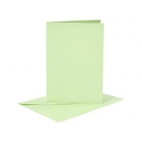 Set osnov in kuvert, C6, light green