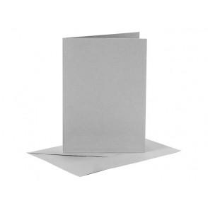 Set osnov in kuvert, C6, grey