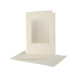 Set osnov in kuvert, z izrezom, C6, off white