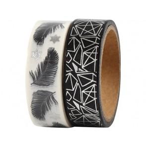 Dekorativni lepilni trak, Feather and pattern - foil