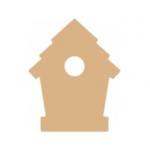 Lesena osnova, MDF, ptičja hišica