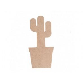 Lesena osnova, MDF, 3D kaktus