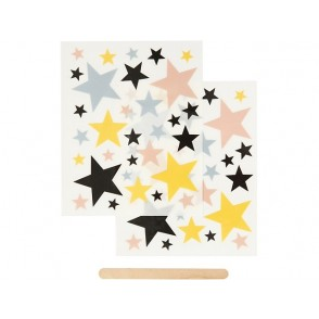 Nalepke za transfer na papir, tekstil, Zvezde