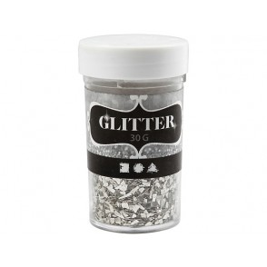 Bleščeče luske, flakes, srebrne