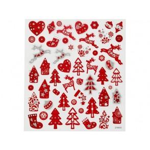 Nalepke, Rdeče/bel Božič