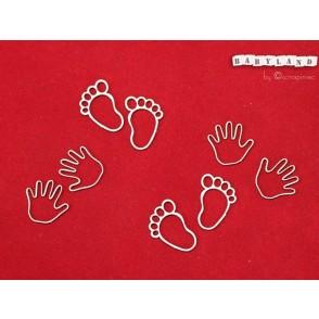 Izrezek, chipboard, Babyland, otroške rokice in nogice