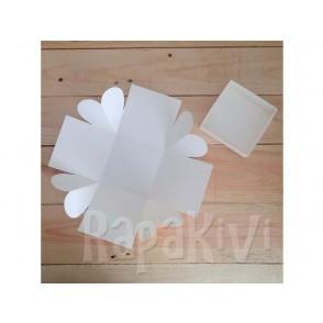 Osnova za škatlico presenečenja s srcem, bela, 300 g