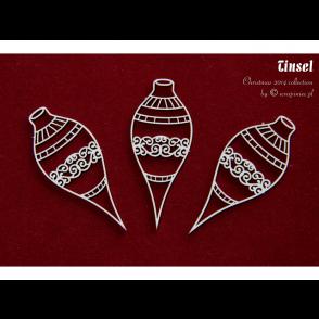 Izrezek, chipboard, božične bunkice