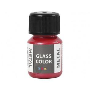 Barva za steklo, metalik, rdeča