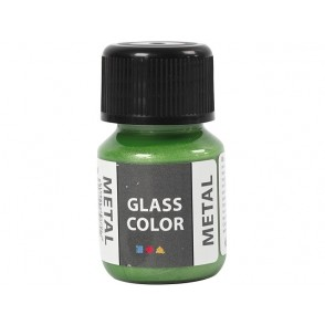 Barva za steklo, metalik, zelena