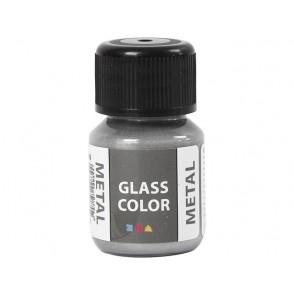 Barva za steklo, metalik, srebrna
