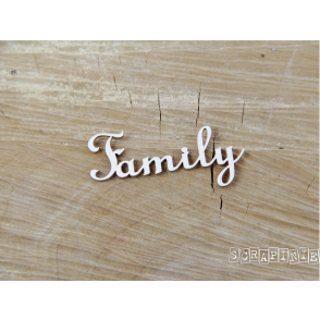 Chipboard, napis, Family
