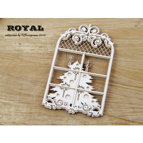 Chipboard, Royal, okno z zimsko idilo 3D