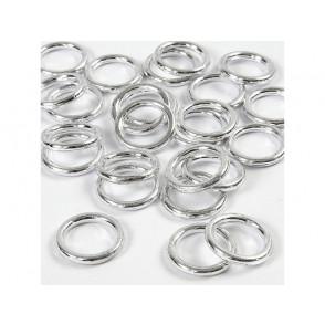 Plastični obročki, srebrni