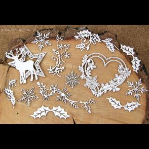 Chipboard,  Old Fashioned Christmas, ustvarjalni set