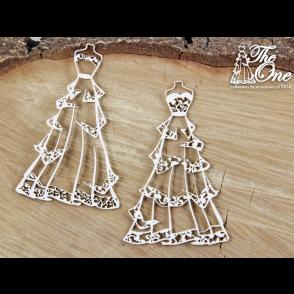 Izrezek, chipboard, The one - poročna obleka