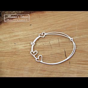 Chipboard, Mamma's heart, mali ovalni okvir s srčki