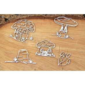 Izrezek, chipboard, Lesena dekoracija, Magic Fall, Elements