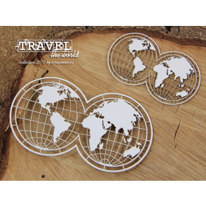 Chipboard, Travel the world, globusa