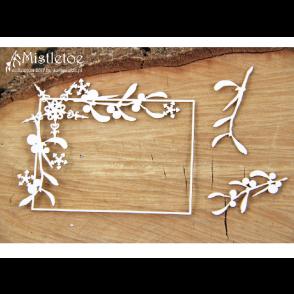 Chipboard, Mistletoe, Rectangle Frame