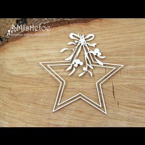 Chipboard, Mistletoe, Star Frame