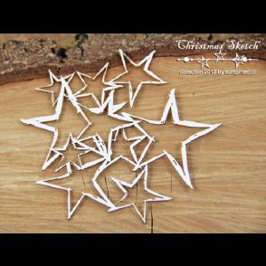 Chipboard, Christmas Sketch, ozadje zvezde