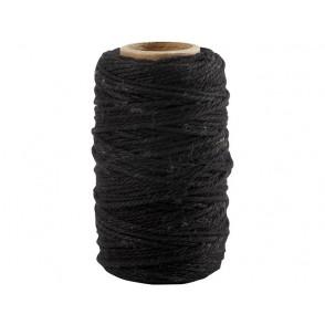 Vrvica, bombažna, črna